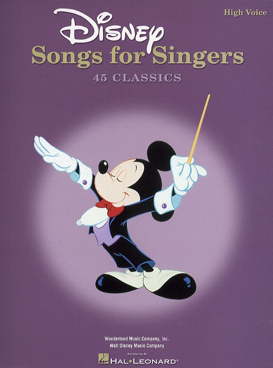 DISNEY SONGS FOR SINGERS - HIGH VOICE - FILM AND TV