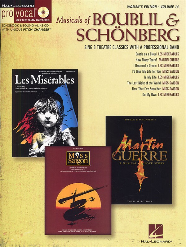 PRO VOCAL VOLUME 14 - MUSICALS OF BOUBLIL AND SCHONBERG FEMALE + CD - VOICE