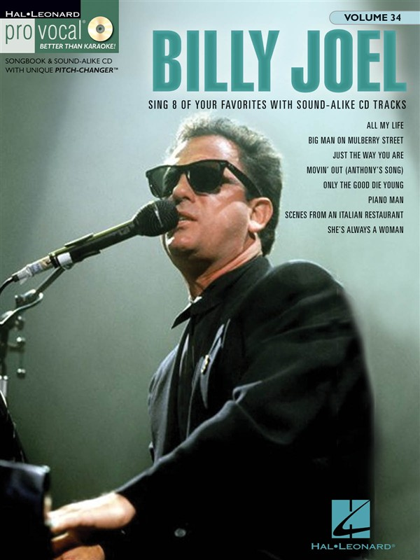 Pro Vocal Volume 34 Billy Joel Mens Edition Voice + Cd - Melody Line, Lyrics And Chords