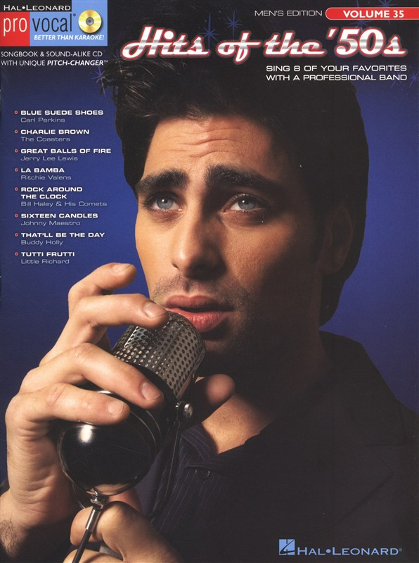 PRO VOCAL VOLUME 35 HITS OF THE 50S MENS EDITION + CD - MELODY LINE, LYRICS AND CHORDS