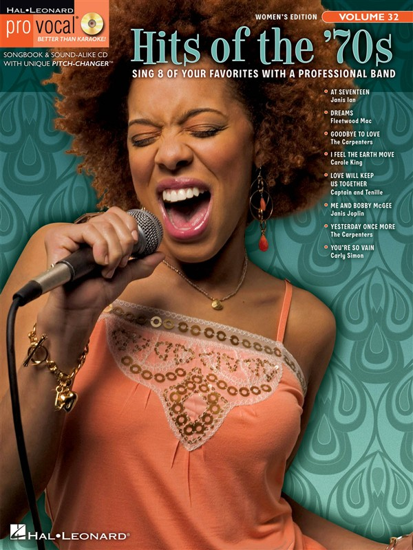 PRO VOCAL VOLUME 32 HITS OF THE 70S WOMEN'S EDITION VOICE + CD - MELODY LINE, LYRICS AND CHORDS
