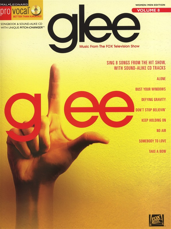 PRO VOCAL VOLUME 8 - GLEE MALE AND FEMALE VOICE + CD - VOICE