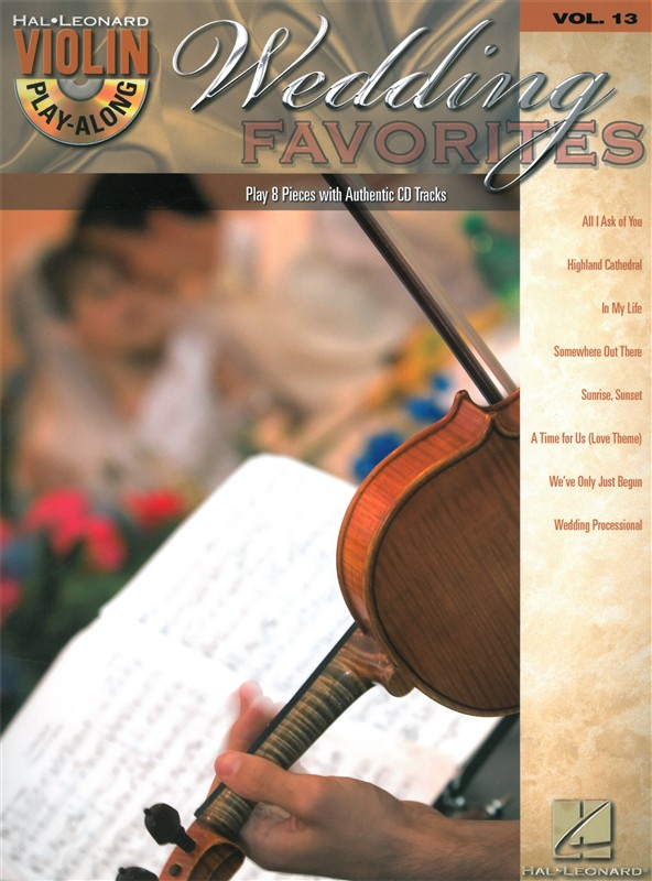 Violin Play Along Volume 13 Wedding Favorites Violin + Cd - Violin