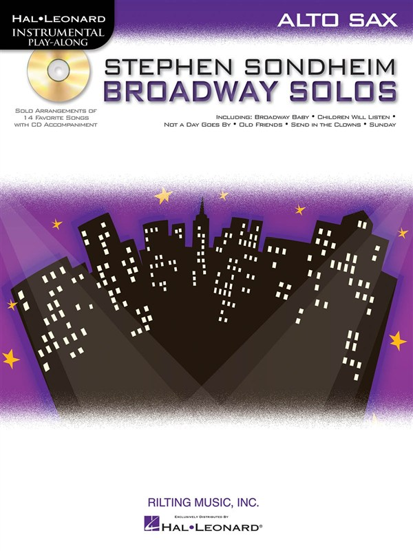 Instrumental Play Along - Sondheim Stephen Broadway Solos + Cd - Alto Saxophone