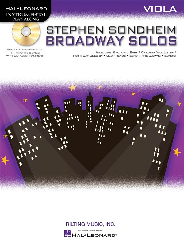 Instrumental Play Along - Sondheim Stephen - Broadway Solos + Cd - Viola