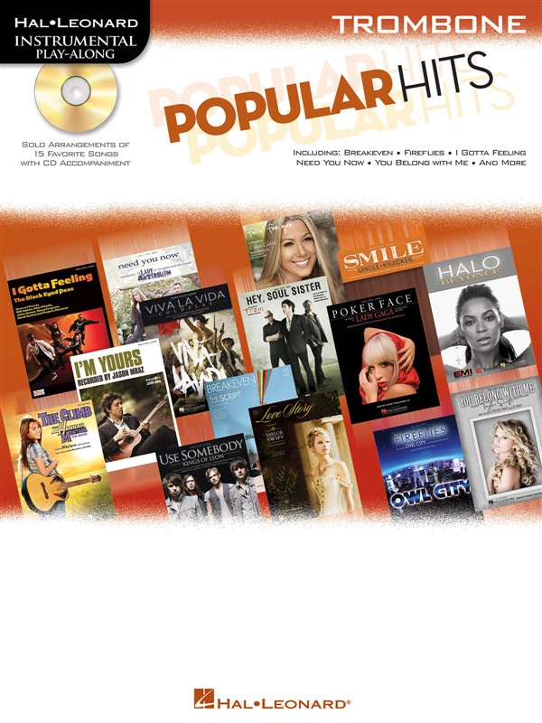 INSTRUMENTAL PLAY ALONG - POPULAR HITS + CD - TROMBONE