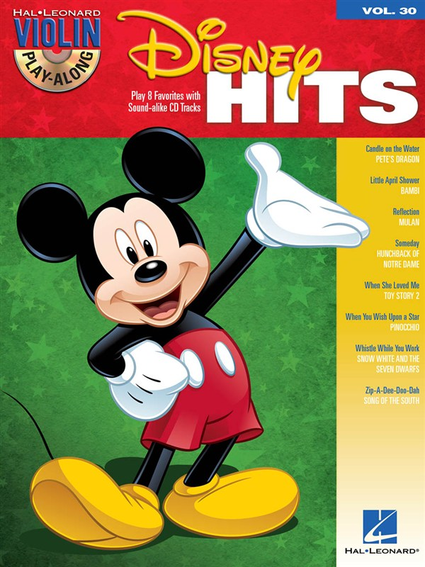 VIOLIN PLAY ALONG VOLUME 30 DISNEY HITS + CD - VIOLIN