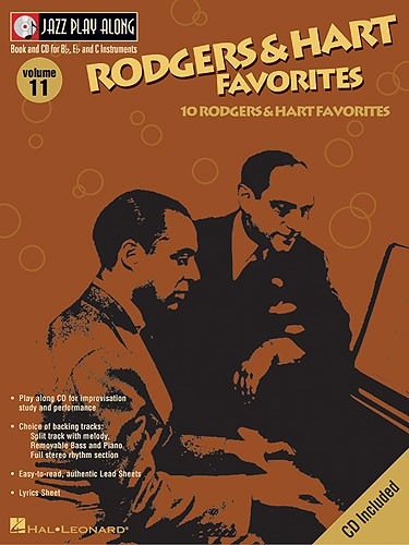 JAZZ PLAY ALONG VOL.11 RODGERS & HART FAVORITES BB, EB, C INST. CD