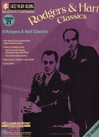 JAZZ PLAY ALONG VOL.21 RODGERS & HART BB, EB, C INST. CD