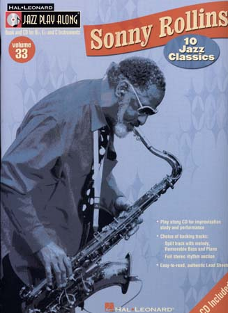JAZZ PLAY ALONG VOL.33 SONNY ROLLINS BB, EB, C INST.CD