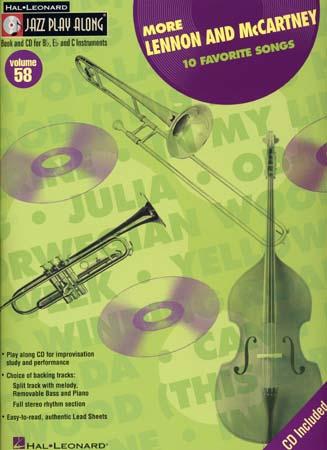 Lennon John/mc Cartney Paul - Jazz Play Along Vol.58 + Cd - Bb, Eb, C Instruments