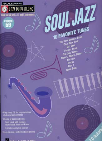 JAZZ PLAY ALONG VOL.59 SOUL JAZZ BB, EB, C INST. CD