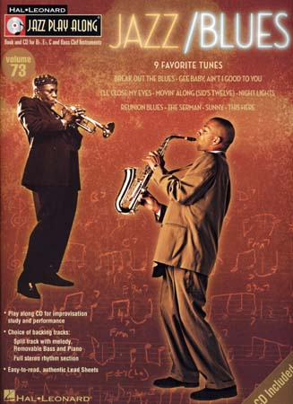 JAZZ PLAY ALONG VOL.73 - JAZZ/BLUES + CD - Bb, Eb, C INSTRUMENTS
