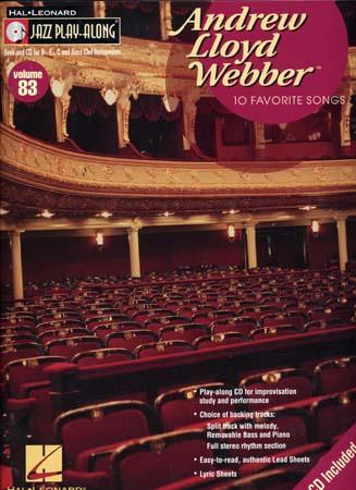 Jazz Play Along Vol.83 A. L. Webber 10 Favorite Songs + Cd