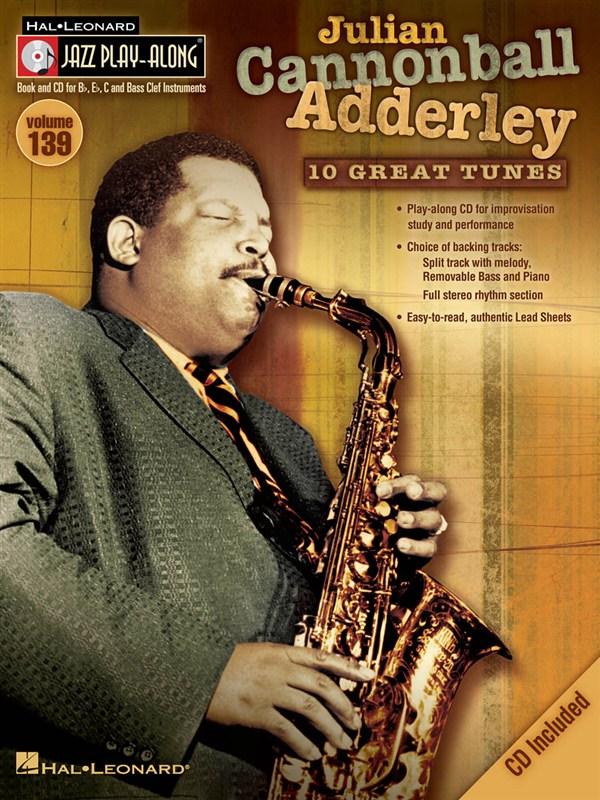 Jazz Play Along Volume 139 - Cannonball Adderley Julian All Inst + Cd - E Flat Instruments