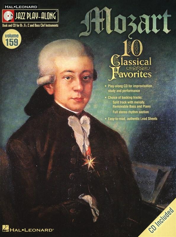 Jazz Play Along Volume 159 - Mozart Wa All Inst + Cd - B Flat Instruments