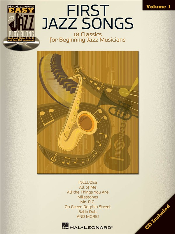 EASY JAZZ PLAY ALONG VOLUME 1 FIRST JAZZ SONGS + CD - BASS CLEF INSTRUMENTS