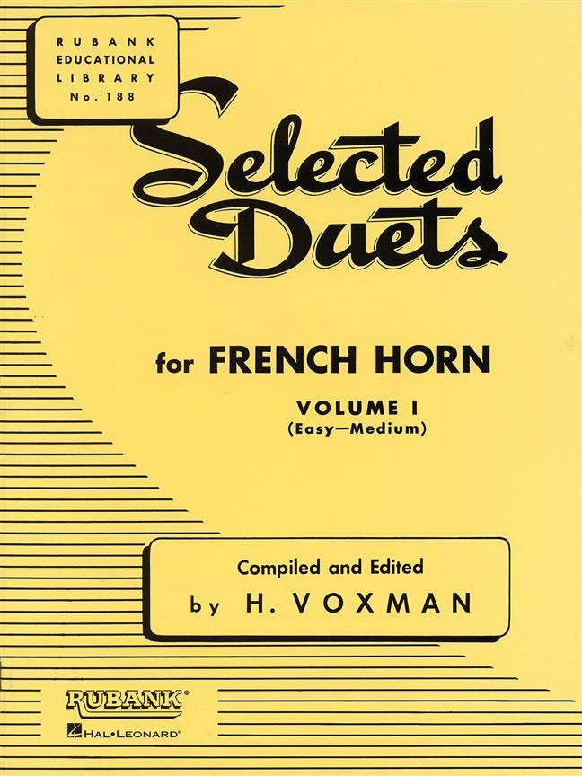VOXMAN HIMIE - SELECTED DUETS FOR FRENCH HORN VOLUME 1 - EASY TO MEDIUM