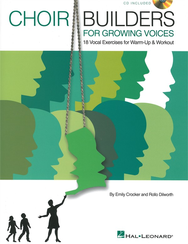 CHOIR BUILDERS FOR GROWING VOICES 19 VOCAL EXERCISES + CD - CHORAL