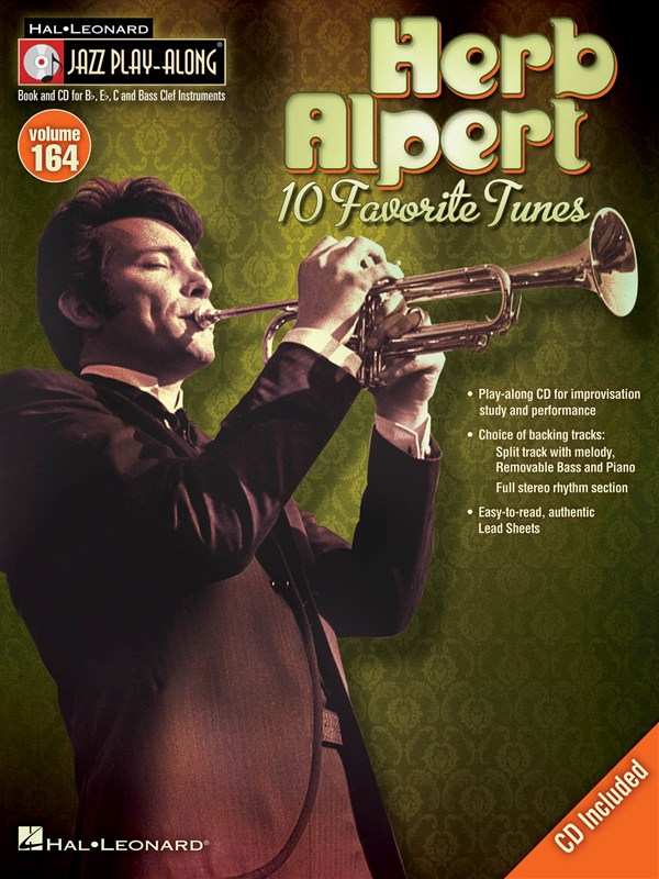 Jazz Play Along Volume 164 - Alpert Herb All Instruments + Cd - B Flat Instruments