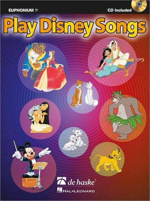 Play Disney Songs - Euphonium Cle De Fa + Cd