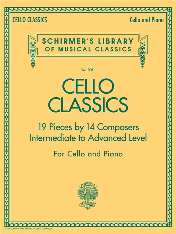 CELLO CLASSICS INTERMEDIATE TO ADVANCED LEVEL - CELLO