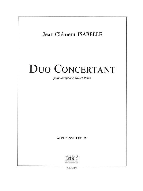 ISABELLE JEAN-CLEMENT - DUO CONCERTANT