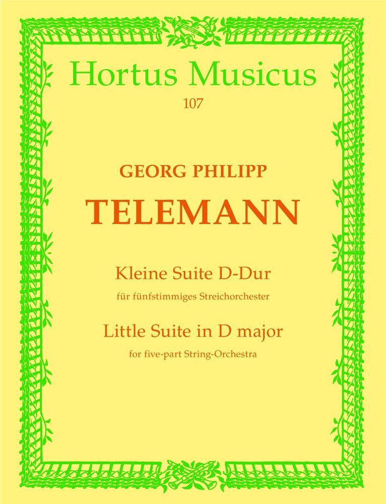 Telemann G.p. - Kleine Suite Fur Streicher Und Basso Continuo D-dur - Cordes Et Basse Continue