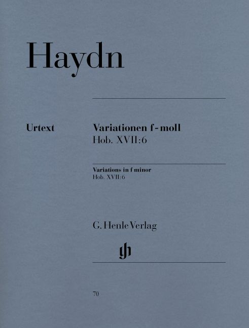 HAYDN J. - VARIATIONS F MINOR HOB. XVII:6