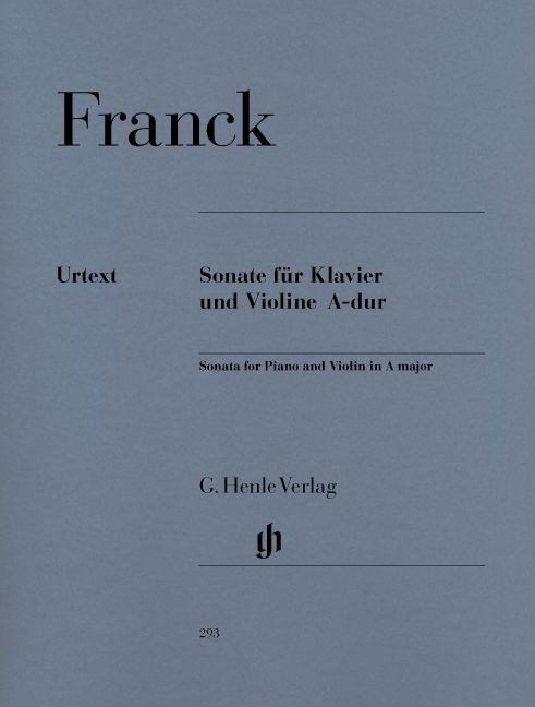 FRANCK C. - SONATA FOR PIANO AND VIOLIN A MAJOR