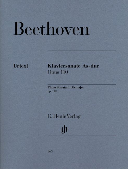 BEETHOVEN L.V. - PIANO SONATA NO. 31 A FLAT MAJOR OP. 110
