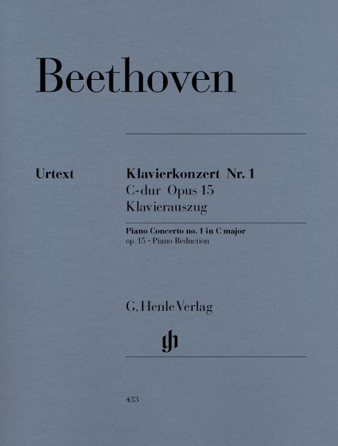BEETHOVEN L.V. - CONCERTO FOR PIANO AND ORCHESTRA NO. 1 C MAJOR OP. 15