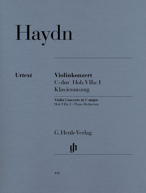 HAYDN J. - CONCERTO FOR VIOLIN AND ORCHESTRA C MAJOR HOB. VIIA:1