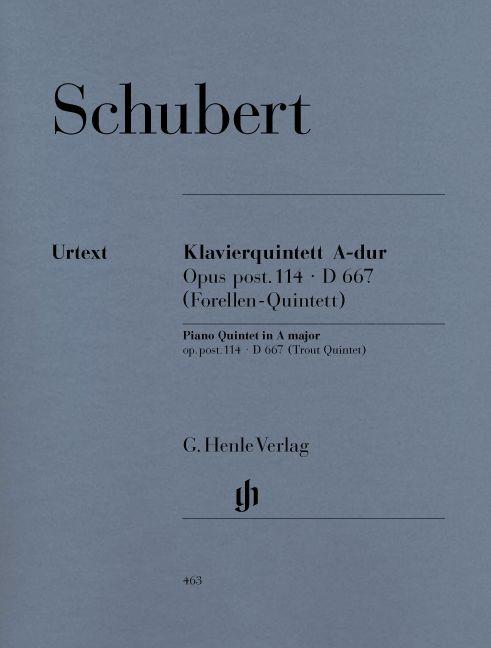 Schubert F. - Quintet A Major Op. Post. 114 D 667 For Piano, Violin, Viola, Violoncello