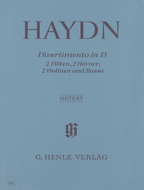HAYDN J. - DIVERTIMENTO D MAJOR HOB. II:8 FOR 2 FLUTES, 2 HORNS, 2 VIOLINS AND BASSO CONTINUO