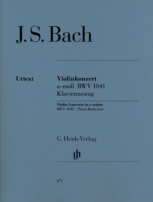 BACH J.S. - CONCERTO FOR VIOLIN AND ORCHESTRA A MINOR BWV 1041