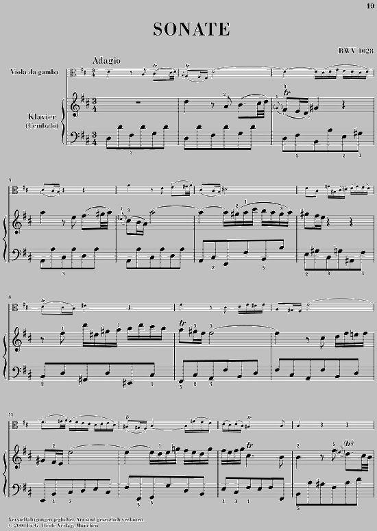 Bach Viola Sheet Music