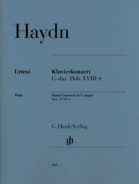 HAYDN J. - CONCERTO FOR PIANO (HARPSICHORD) AND ORCHESTRA G MAJOR HOB. XVIII:4