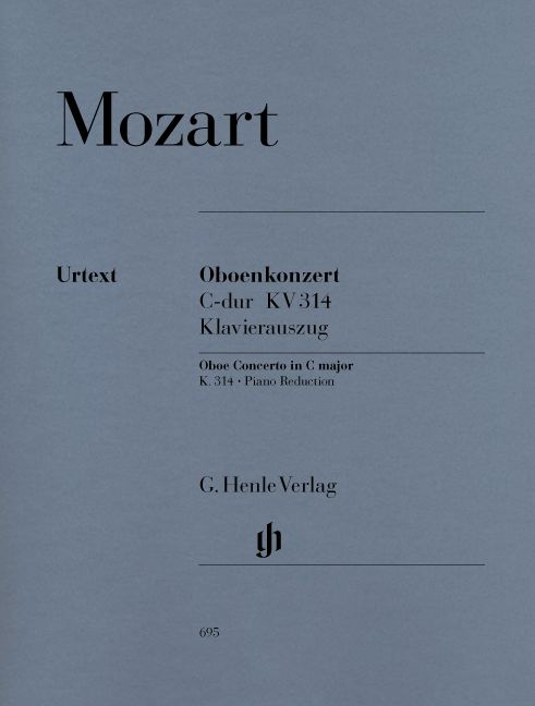 MOZART W.A. - CONCERTO FOR OBOE AND ORCHESTRA C MAJOR K. 314