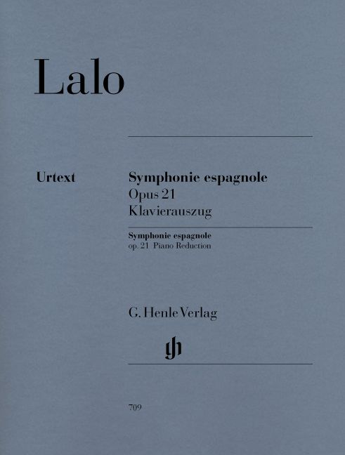LALO E. - SYMPHONIE ESPAGNOLE FOR VIOLIN AND ORCHESTRA D MINOR OP. 21