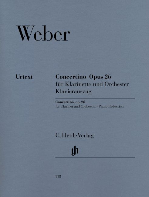 WEBER C.M.V. - CONCERTINO OP. 26 FOR CLARINET AND ORCHESTRA
