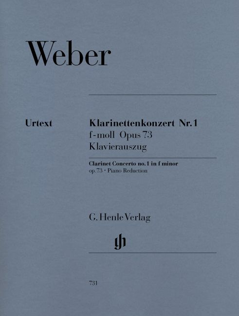 WEBER C.M.V. - CLARINET CONCERTO AND ORCHESTRA NO. 1 F MINOR OP. 73