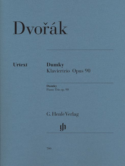 DVORAK A. - DUMKY – TRIO FOR PIANO, VIOLIN AND VIOLONCELLO OP. 90