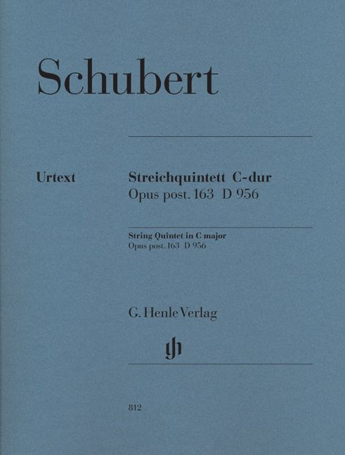 Schubert F. - String Quintet C Major Op. Post. 163 D 956