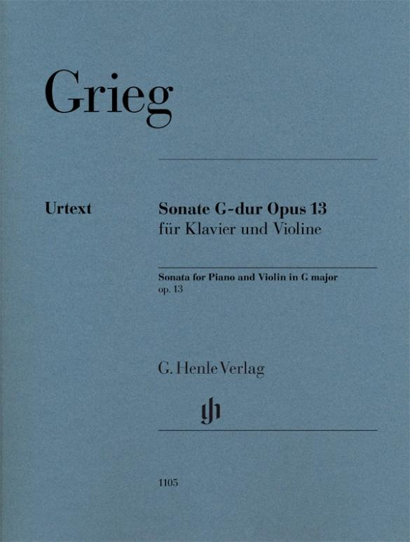 Grieg Edvard - Sonate Pour Violon En Sol Majeur Op.13 - Violon and Piano