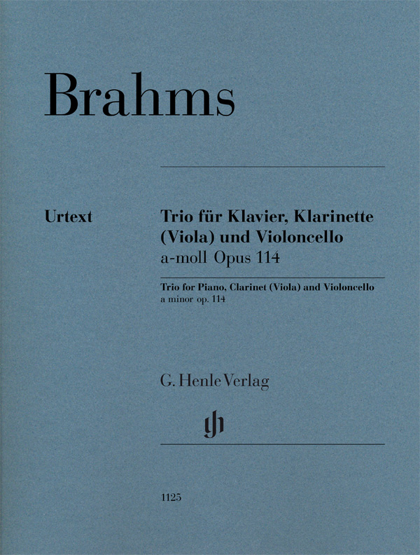Brahms J. - Clarinet Trio A Minor Op. 114 For Piano, Clarinet (or Viola) And Violoncello