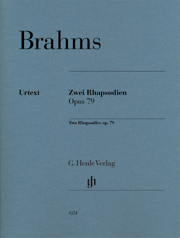 Brahms Johannes - Deux Rhapsodies Op.79 - Piano