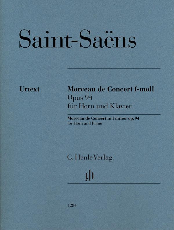 Saint-saens Camille - Morceau De Concert En Fa Mineur Op.94 - Cor and Piano