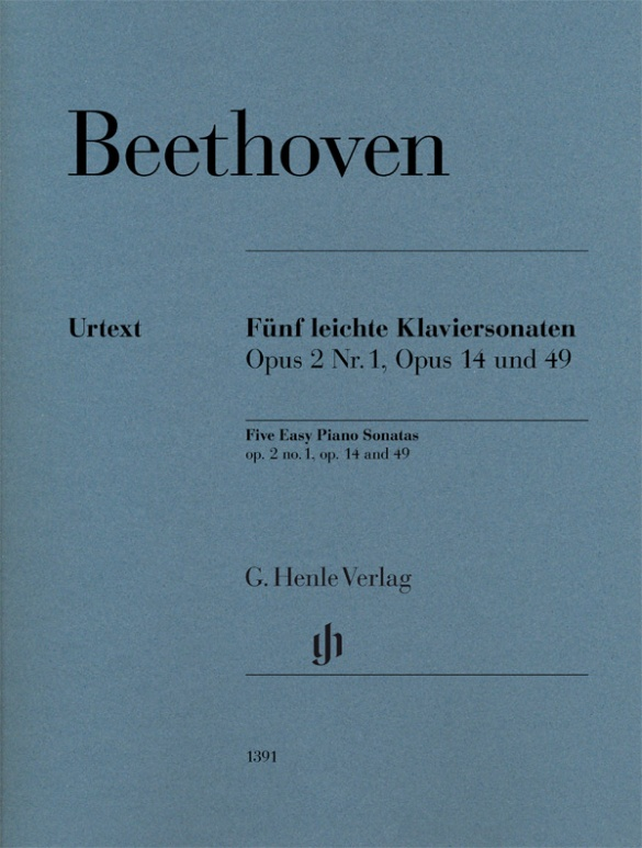 Beethoven L.v. - Five Easy Piano Sonatas Op.2/1, Op.14 and 49