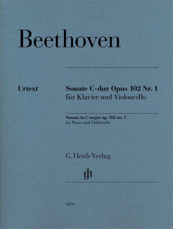 BEETHOVEN L.V. - SONATE C-DUR OP.102 N°1 - VIOLONCELLE & PIANO